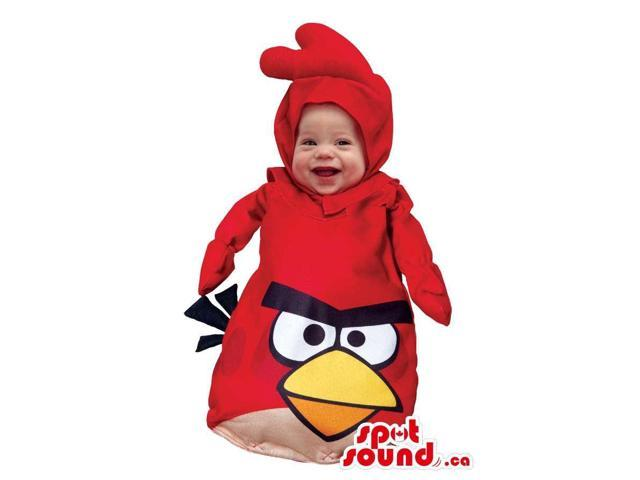 Very Cute Red Angry Birds Character Toddler Size Costume