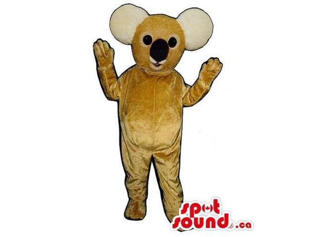 Customised All Brown Koala Animal Canadian SpotSound Mascot With Black Nose