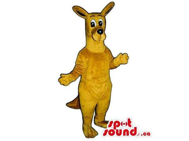 Customised All Brown Kangaroo Animal Canadian SpotSound Mascot With Cute Face