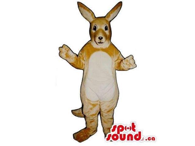 Customised Very Light Brown Kangaroo Animal Canadian SpotSound Mascot