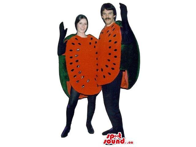 Sliced Watermelons Fruit Plush Adult Size Costumes Or Canadian SpotSound Mascots