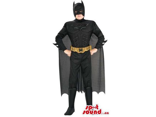 Great Black Batman Well-Known Character Adult Size Disguise