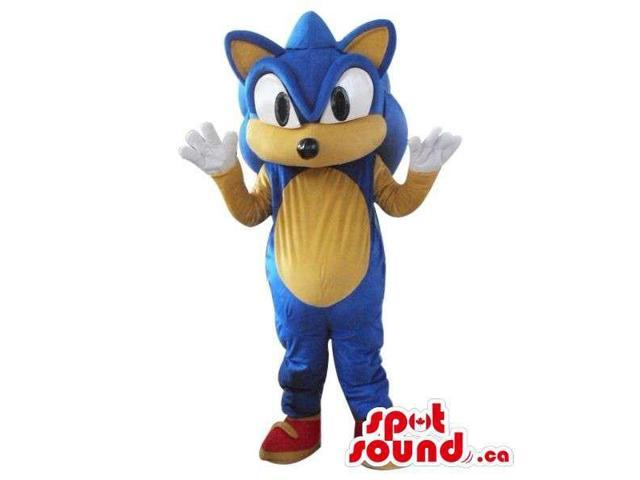 Sonic The Hedgehog Well-Known Video Game Character Canadian SpotSound Mascot