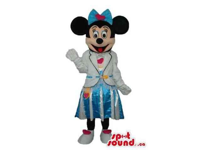 Minnie Mouse Disney Canadian SpotSound Mascot Dressed In Flight Attendant Canadian SpotSound Mascot