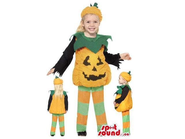 Cute Halloween Pumpkin Children Size Costume Disguise