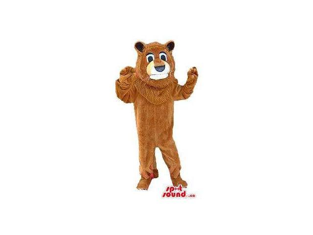 Customised Large Brown Bear Plush Canadian SpotSound Mascot With A White Face