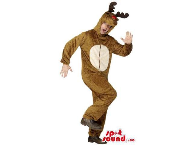 Hilarious Brown Christmas Reindeer Adult Size Disguise