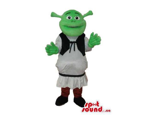 Shrek The Green Ogre Well-Known Movie Character Flashy Canadian SpotSound Mascot