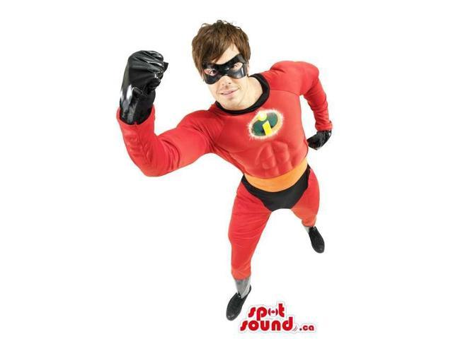 Red It Incredibles Movie Character Adult Size Costume
