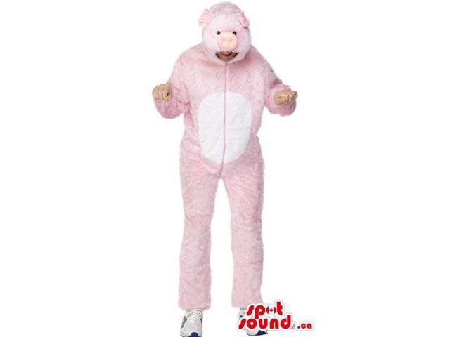 Pink Pig Character Adult Size Costume Or Plush Canadian SpotSound Mascot