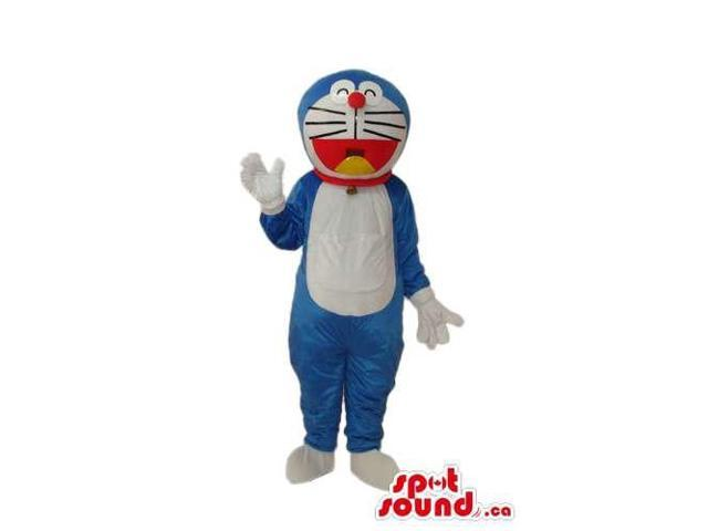 Doraemon Blue Cat Cartoon Character Plush Canadian SpotSound Mascot With No Pocket