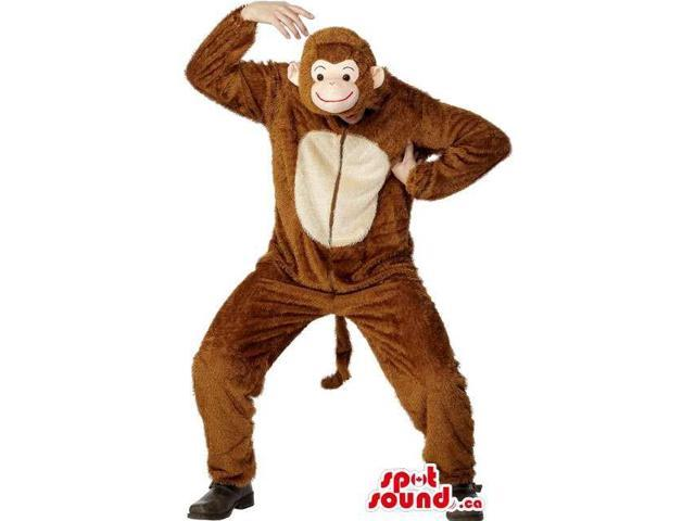 Awesome Brown Monkey Adult Size Costume Or Plush Canadian SpotSound Mascot