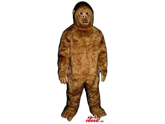 Great And Real-Looking Brown Ape Animal Plush Canadian SpotSound Mascot