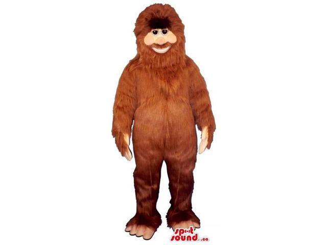 Great Human-Like All Brown Ape Animal Plush Canadian SpotSound Mascot
