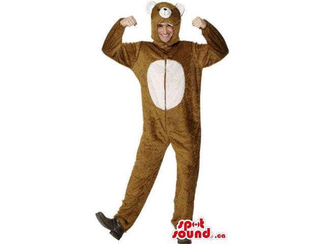 Awesome Brown Bear Adult Size Costume Or Plush Canadian SpotSound Mascot