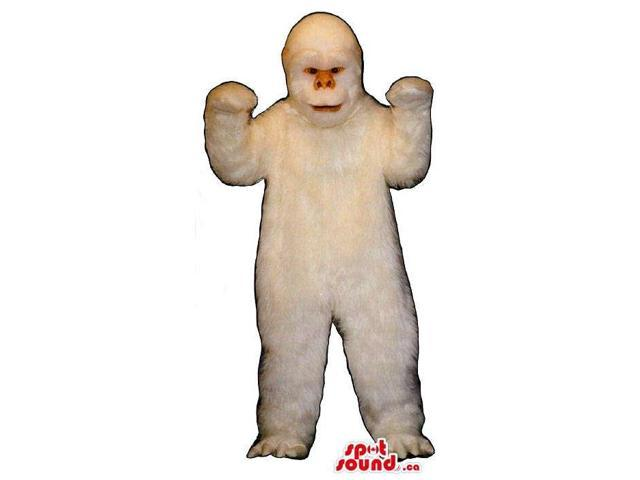 Great And Real-Looking All White Gorilla Animal Plush Canadian SpotSound Mascot