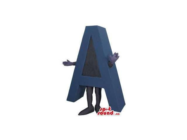 Customised Blue And Black Initial Letter A Plush Canadian SpotSound Mascot