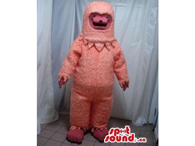 Fairy-Tale Pink Bear Forest Plush Canadian SpotSound Mascot Inside An Astronaut Suit