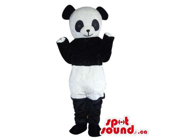 Panda Bear Forest Plush Canadian SpotSound Mascot Dressed In White Shorts
