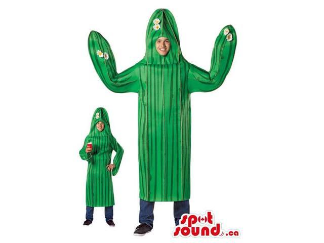 Green Cactus Plant Adult Size Costume Or Disguise