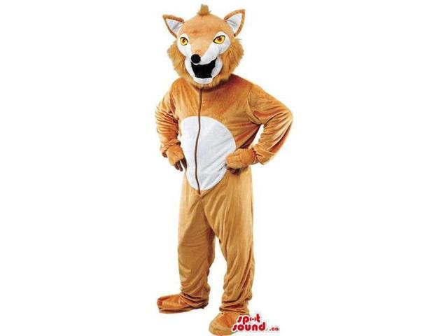 Brown And White Fox Adult Size Plush Costume Disguise Costume