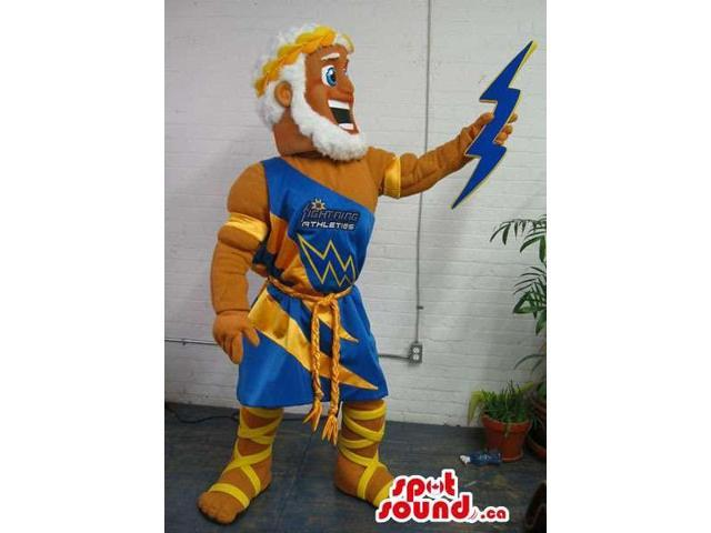 Ancient Greek Mythology God Canadian SpotSound Mascot With A Thunder Ray