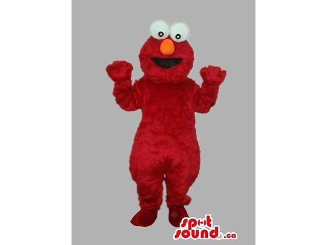 Sesame Street Elmo Tv Cartoon Character Red Canadian SpotSound Mascot