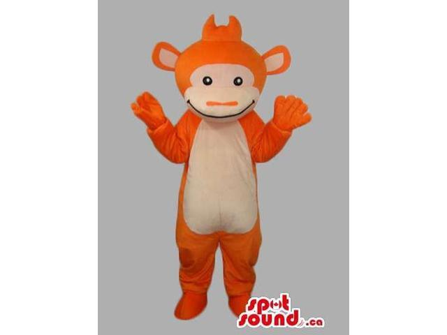 All Orange Peculiar Customised Monkey Animal Canadian SpotSound Mascot