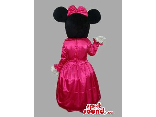Minnie Mouse Disney Character Canadian SpotSound Mascot Dressed In Princess Gear