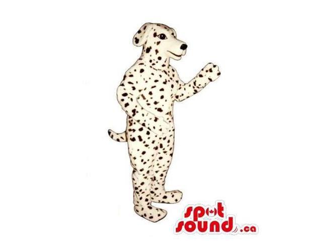 Customised Dalmatian Breed Dog Pet Canadian SpotSound Mascot With Dots