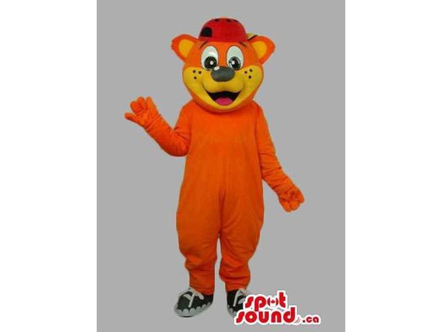 Orange And Yellow Customised Bear Forest Canadian SpotSound Mascot