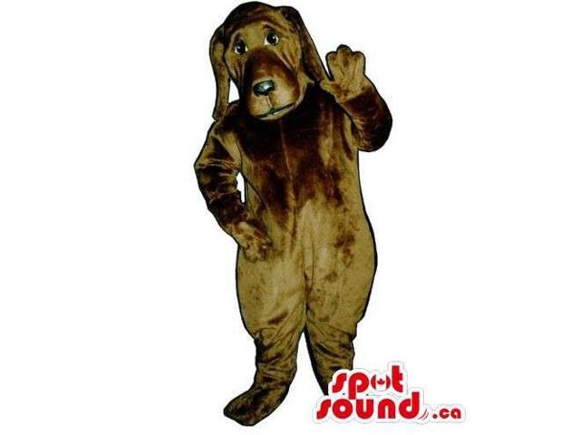 Customised All Brown Dog Pet Canadian SpotSound Mascot With Long Ears