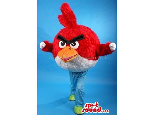 Red Angry Birds Video Game Well-Known Character Canadian SpotSound Mascot