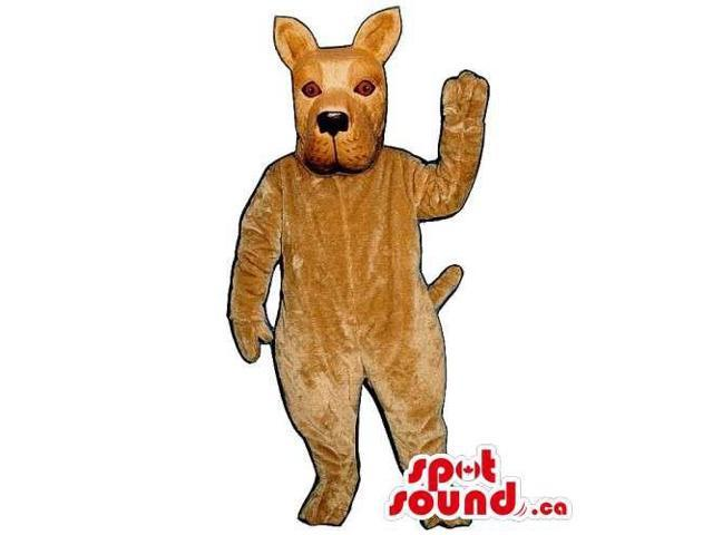 Customised All Brown Dog Pet Canadian SpotSound Mascot With Pointy Ears
