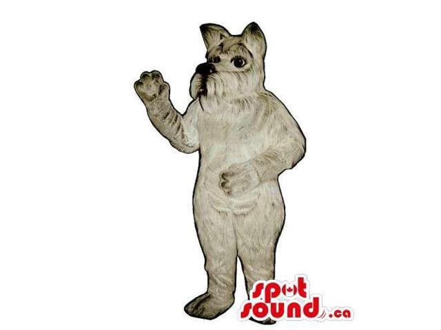 Customised And All Grey Dog Pet Plush Canadian SpotSound Mascot