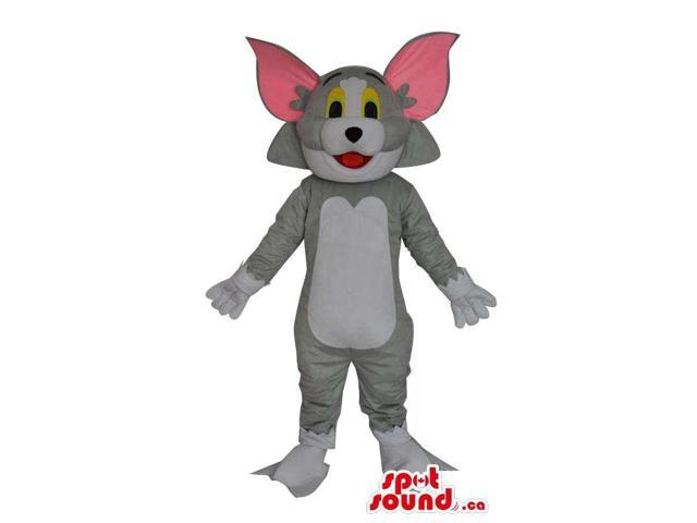 Jerry Cat From It Tom And Jerry Cartoon With Giant Ears In Grey