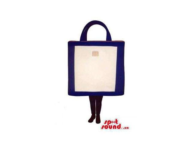 Original White And Blue Shopping Bag Canadian SpotSound Mascot With No Face