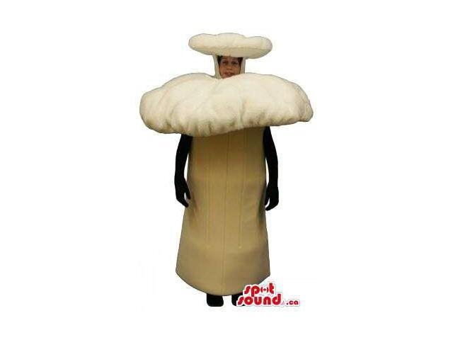 Large Forest Beige Mushroom Plush Canadian SpotSound Mascot Or Halloween Costume