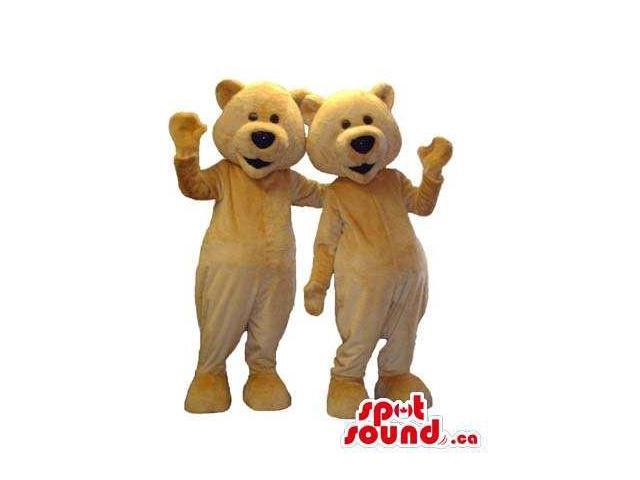 Peculiar Beige Teddy Bear Plush Canadian SpotSound Mascots With Black Noses