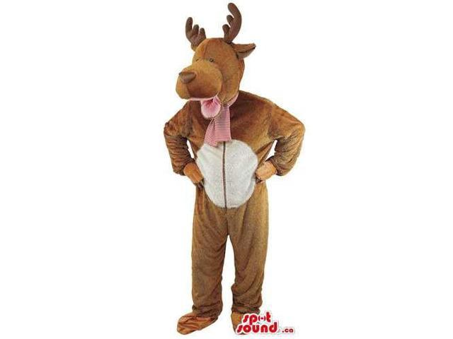 Brown And White Deer Adult Size Plush Costume Disguise Costume