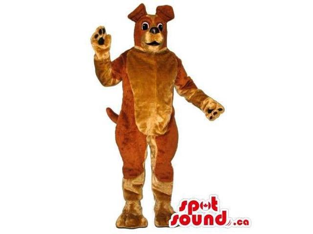 Customised Dog Pet Canadian SpotSound Mascot With Tones Of Brown Colors