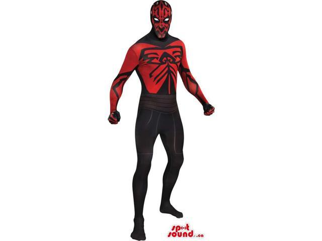Great Red And Black Cartoon Character Adult Size Costume