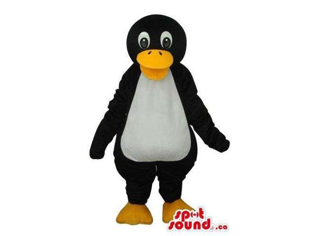 Penguin Animal Plush Canadian SpotSound Mascot With Round Black Head
