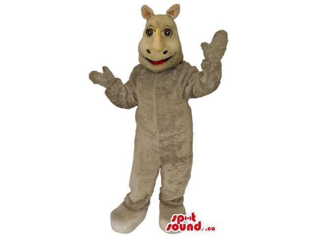 Customised All Grey Rhinoceros Jungle Animal Canadian SpotSound Mascot