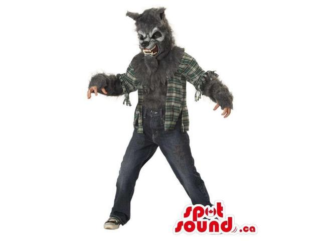 Scary Werewolf Halloween Adult Costume With A Ripped Shirt