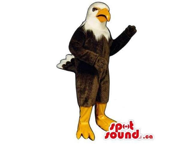 Customised Gallant American Eagle Canadian SpotSound Mascot With Yellow Beak