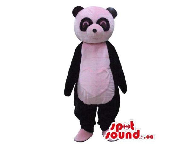 Customised Cute Panda Bear Plush Canadian SpotSound Mascot With A White Heart