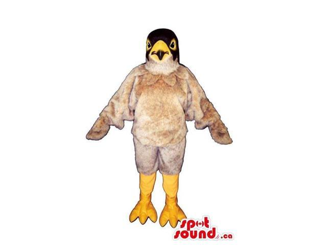 Cute Beige American Eagle Bird Plush Canadian SpotSound Mascot With Black Head