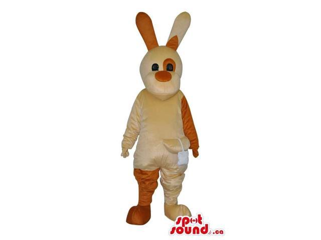 Customised Brown Tones Rabbit Plush Canadian SpotSound Mascot With Long Ears
