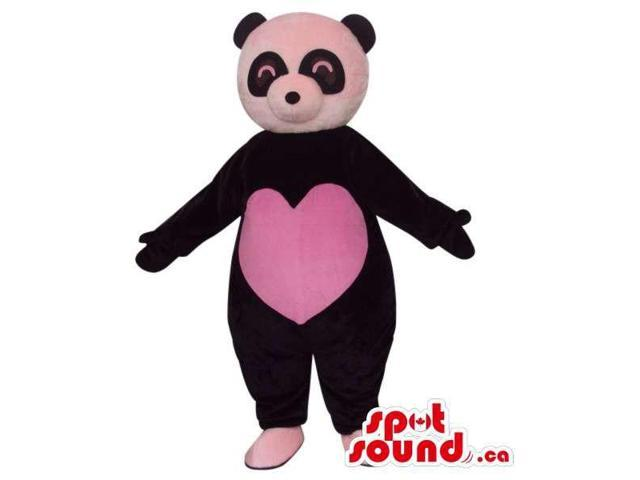 Customised Cute Panda Bear Plush Canadian SpotSound Mascot With A Large Heart